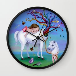 The Unicorn's New Horn Wall Clock