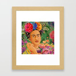 Frida Khalo Portrait Framed Art Print