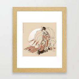 Ninetales Daji Framed Art Print