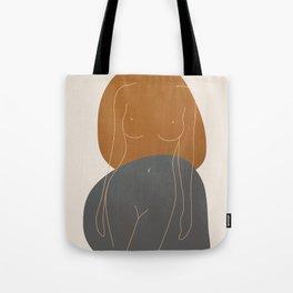 Line Female Figure 81 Tote Bag