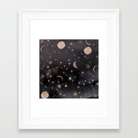 whimsical Framed Art Prints featuring Constellations  by Nikkistrange