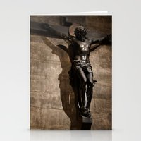 christ Stationery Cards featuring Jesus Christ by Villads Andersen