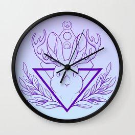 Lunar Rabbit / Jackalope // Purple Wall Clock