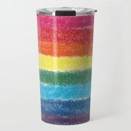 LGBTQ+ Pride Flag Crosshatch Design Travel Mug