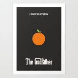 The Godfather Minimal (Orange) Art Print