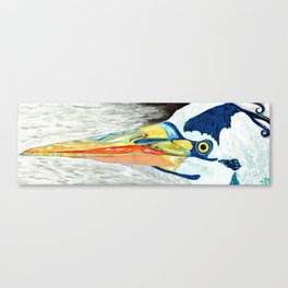 Heron in Evening Canvas Print
