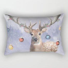 Christmas Deer Rectangular Pillow