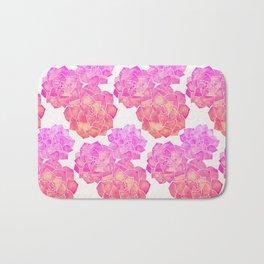 Rosette Succulents – Pink Palette Bath Mat