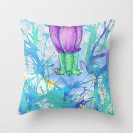 darling squidgirl II Throw Pillow