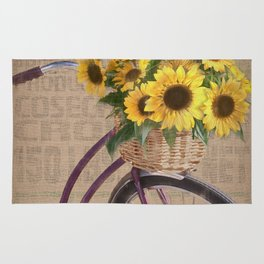 Sunflower Bicycle Rug