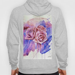 A ROSE BY ANY OTHER NAME- RED & BLUE  Hoody