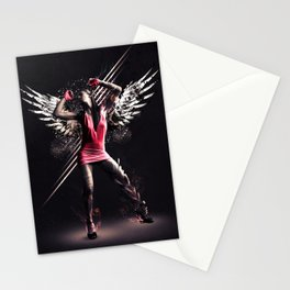 Pink Dancer Stationery Cards