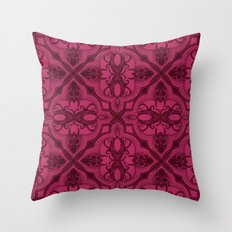 Dotted Tile: Wine-berry  Throw Pillow