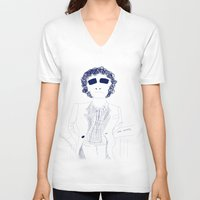 randy c V-neck T-shirts featuring Randy Newman  by awall