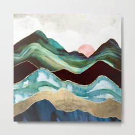 Velvet Mountains Metal Print