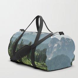 Mount Rainier Adventure II - Pacific Northwest Mountain Forest Wanderlust Duffle Bag