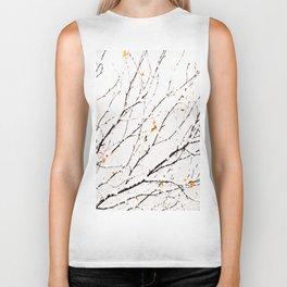 Snowy birch twigs and leaves #society6 #decor #buyart Biker Tank