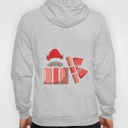 Cat Christmas Santa Claus Miau Christmas Present Hoody