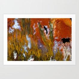 Cady Mountain Tube Agate Art Print