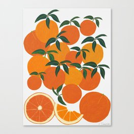 Orange Harvest - White Canvas Print