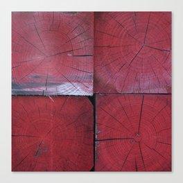 4 red wooden blocks Canvas Print