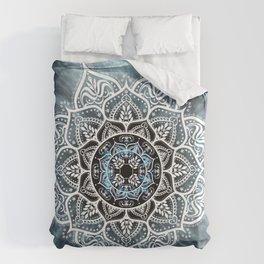 Mandala Nirvana Blue Spiritual Zen Bohemian Hippie Yoga Mantra Meditation Duvet Cover