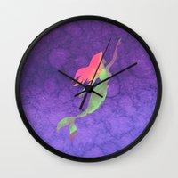 ariel Wall Clocks featuring Ariel  by foreverwars