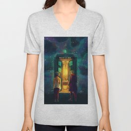 The Doctor, Bill and the kitchen Unisex V-Neck
