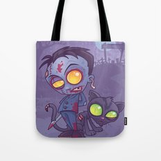 Pet Cemetery: Zombie Boy and his Zombie Cat Tote Bag