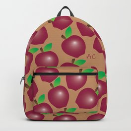 Fall Red Apple Pattern Backpack