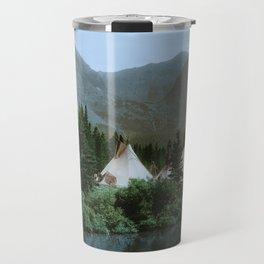 Blackfoot Camp Up the Cutbank in Montana Travel Mug