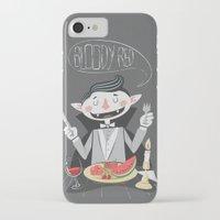 vegan iPhone & iPod Cases featuring Vegan Vampire by Ukko