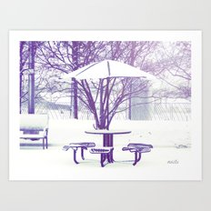 Sit down with me??? Art Print