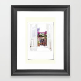 Polaroid moments Framed Art Print