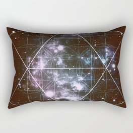 Galaxy Sacred Geometry dark Rectangular Pillow
