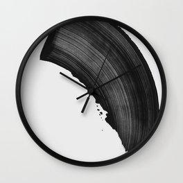 Black Brush Calligraphy Stroke Wall Clock