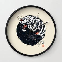 Taichi Tiger Wall Clock