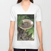 mushroom V-neck T-shirts featuring Mushroom by Kelsey Adams