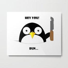 Hey_You_Run Metal Print