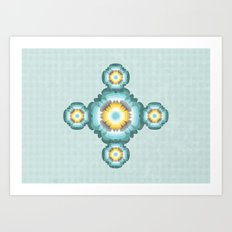 Flower pattern 02 Art Print