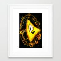 bill cipher Framed Art Prints featuring Bill Cipher by Beejutsu
