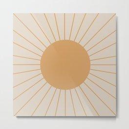 Minimal Sunrays Metal Print
