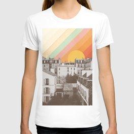 Rainbow Sky Above Paris T-shirt