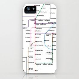 Internet Map iPhone Case