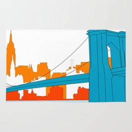 Brooklyn Bridge Vector Rug