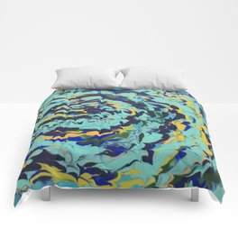 Abstract Labyrinth Comforters
