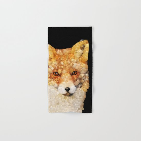 Red Fox Abstract Hand & Bath Towel