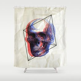 SKULL 2BR Shower Curtain