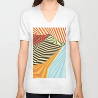 mountains V-neck T-shirts featuring Yaipei by Anai Greog