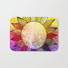 Rainbow Sun Design Bath Mat